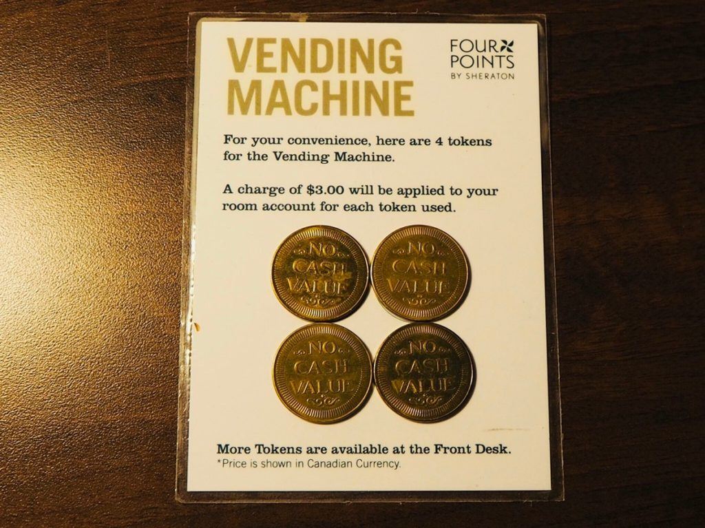 Four Points Hotel Vending Machine coins