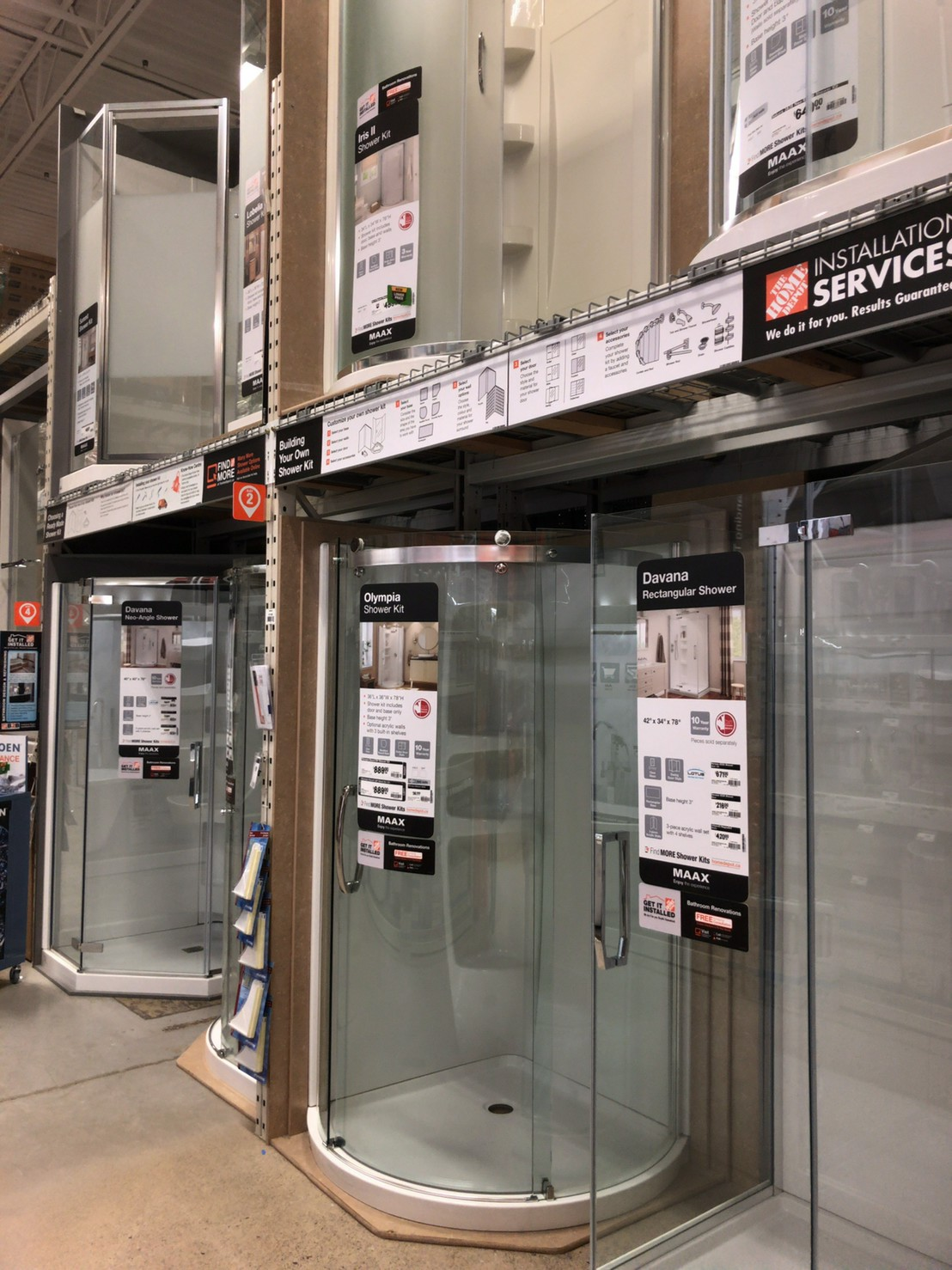 The home depot Shower room