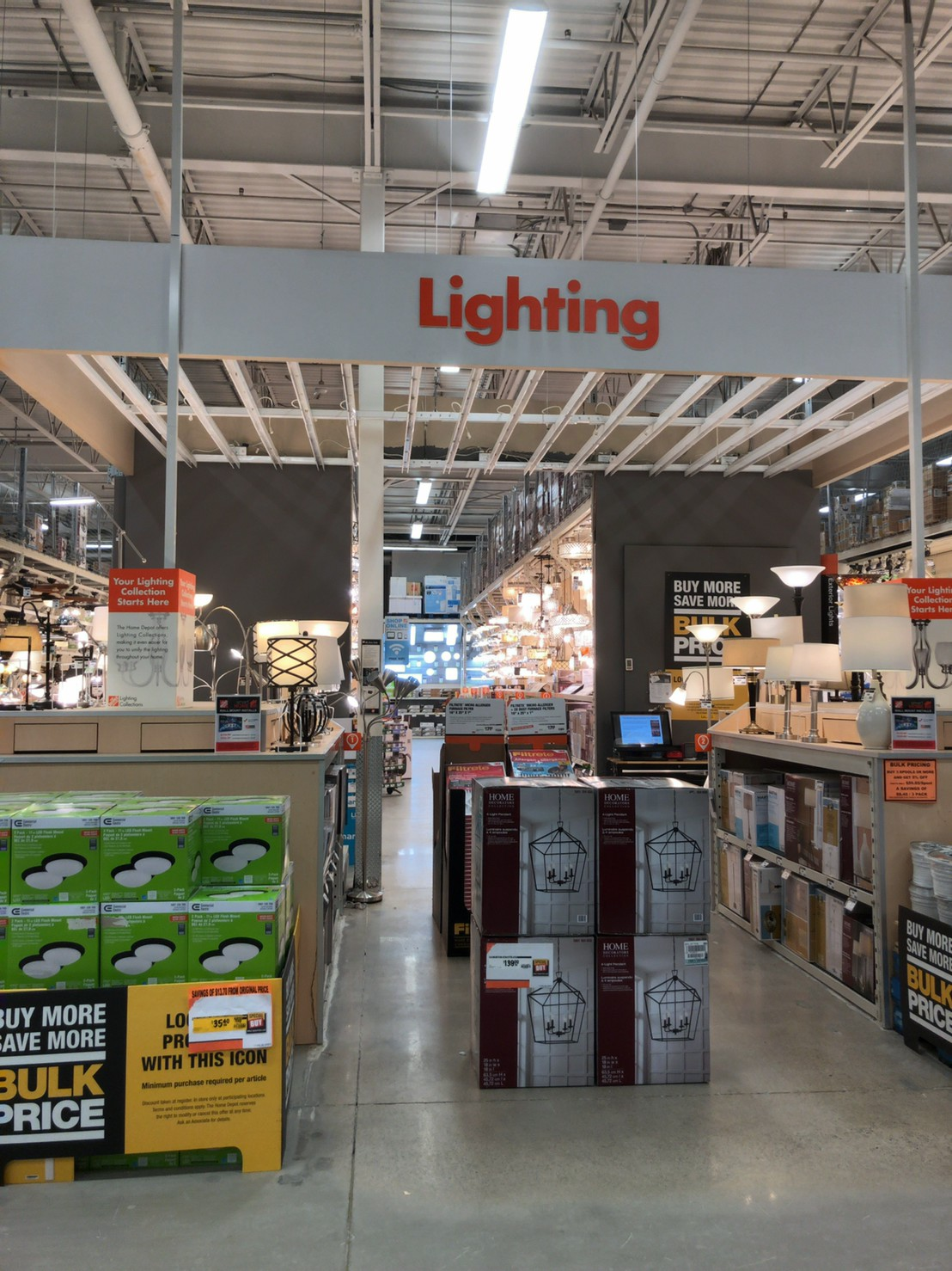 The home depot 電気 ①