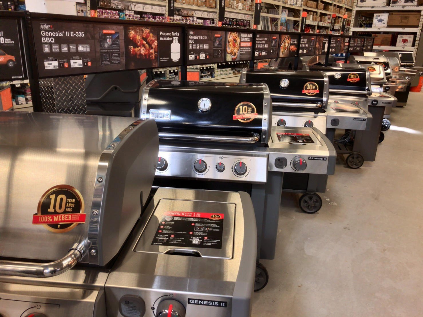 The home depot Barbecue stove